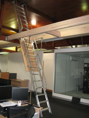 Commercial Series Pull Down Access Ladders