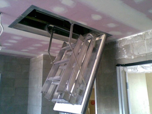 fire rated pull down access ladders