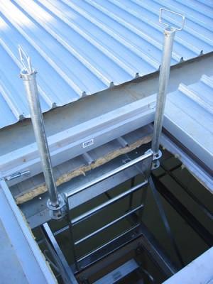 AM BOSS Steel, Rung, Ceiling Space Access Ladder